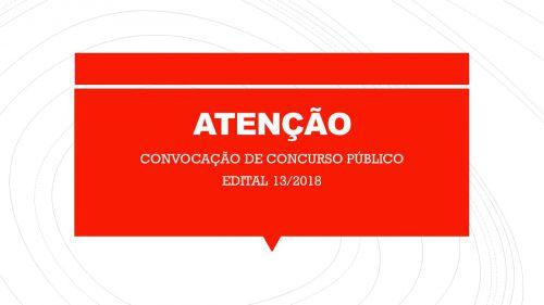 RELAÇÃO DE CONVOCADOS DO CONCURSO PÚBLICO 01/2016