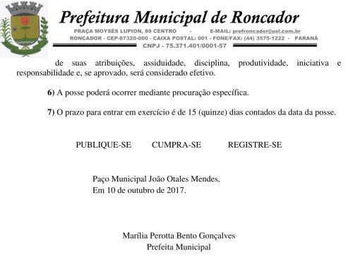 Prefeitura divulga Edital de Convocação do Concurso Público