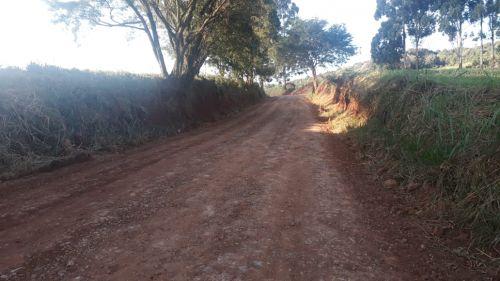 Essa semana já foram recuperados 6 km da via com patrolamento e cascalhamento
