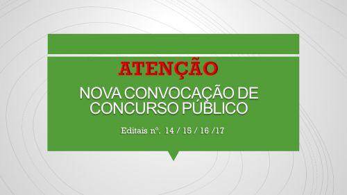 NOVA RELAÇÃO DE CONVOCADOS DO CONCURSO PÚBLICO 01/2016