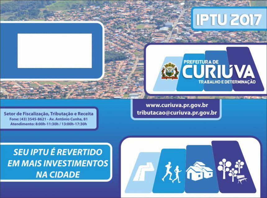 IPTU 2017 vence em 31 de Maio