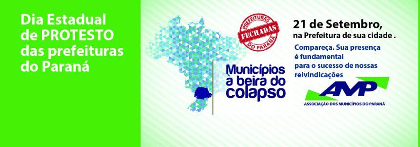 Prefeituras de todas as regiões do Paraná vão protestar contra a crise