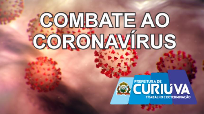 Curiúva registra os 3 primeiros casos de coronavírus