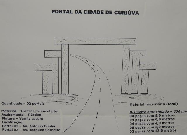 Projeto de Portal para as Avenidas de Curiúva