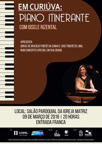 Curiúva recebe concerto gratuito de piano em março