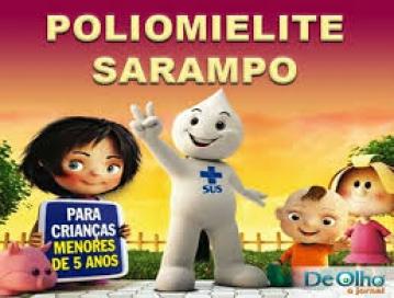 Campanha de vacinação contra paralisia infantil e sarampo é prorrogada até 12/12