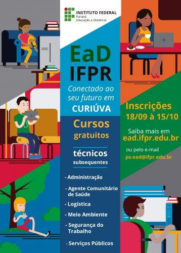 IFPR abre inscrições para cursos técnicos a distância gratuitos em Curiúva
