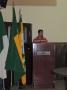 O prefeito Amadeu, em seu discurso