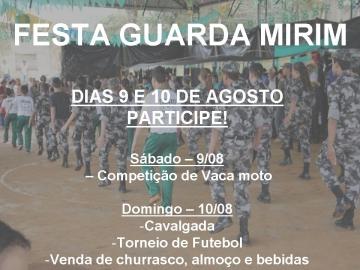 Guarda Mirim promove festa no próximo final de semana