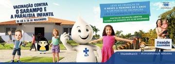 Começa amanhã a campanha de vacinação contra paralisia infantil e sarampo