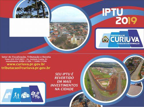 IPTU 2019 vence em 05 de Junho
