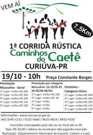 Prefeitura de Curiúva promove 1ª Corrida Rústica Caminhos do Caetê