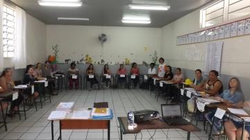 Encontro das famílias de alunos da educação infantil e 1º e 2º anos do ensino fundamental.
