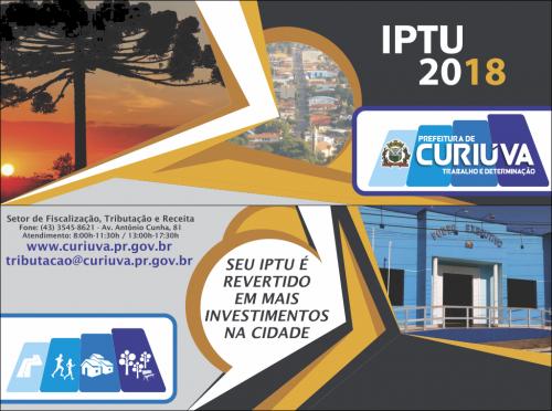 IPTU 2018 vence em 04 de Junho