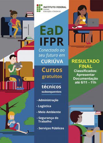 Divulgado resultado do Teste Seletivo para os cursos do IFPR