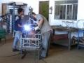 Produção das armações em ferro