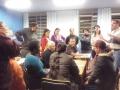 Pais de alunos se reúnem com psicólogos e nutricionista de seus filhos
