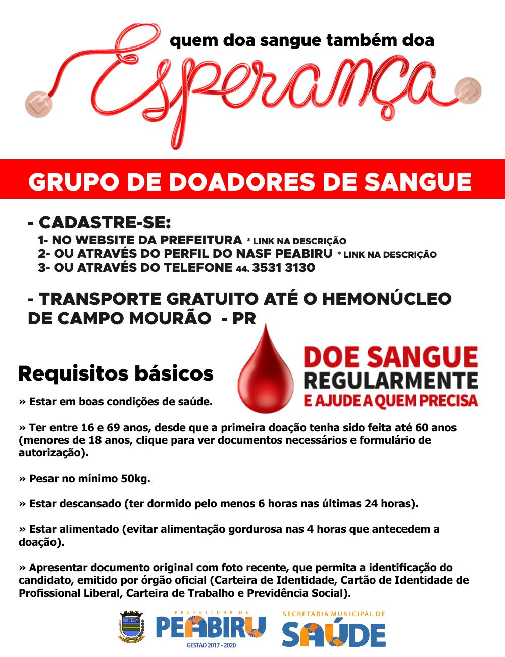 Cadastro para Voluntários | Doadores de Sangue