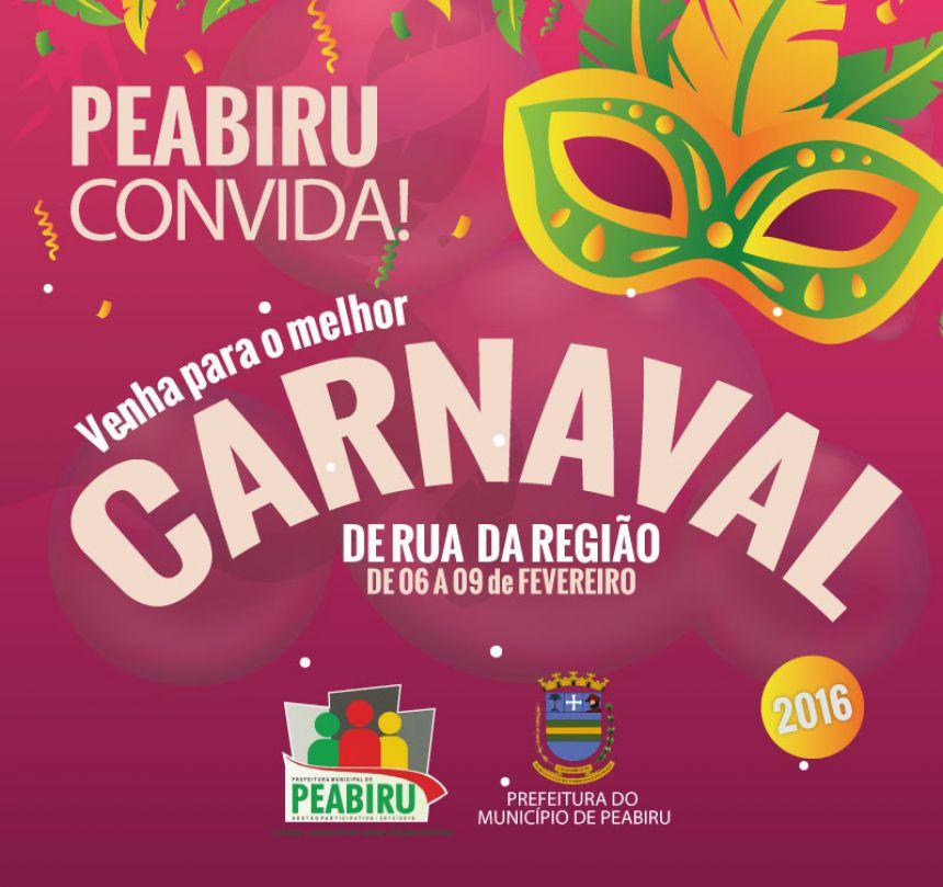 Peabiru terá quatro dias de folia no Carnaval Popular