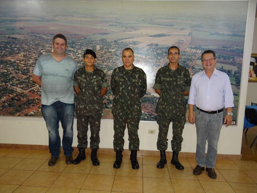 Junta Militar de Peabiru recebe visita de orientação técnica