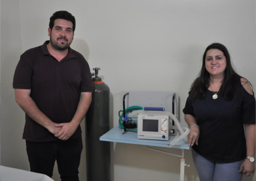 Saúde recebe Respirador Portátil do Governo do Estado
