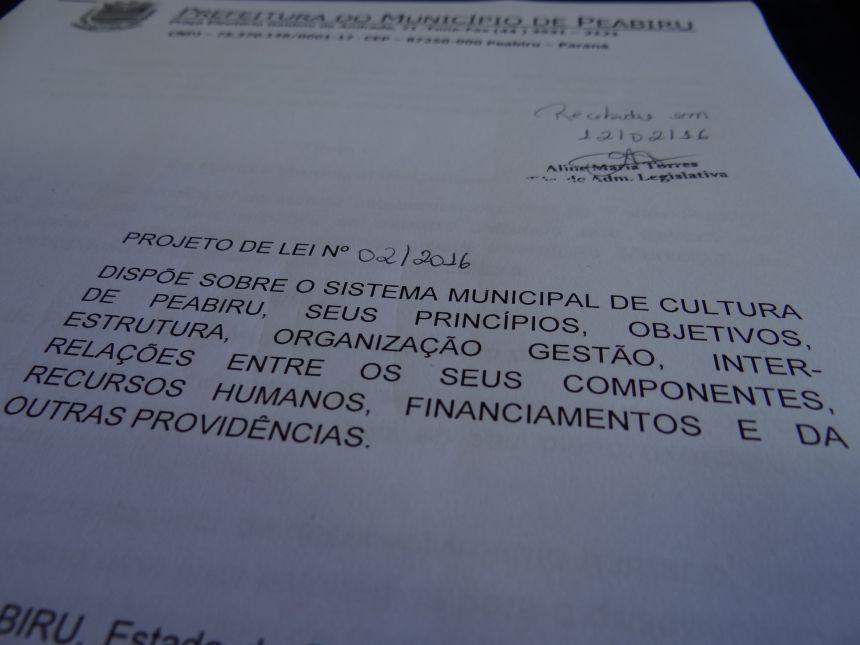 Projeto de lei prevê a criação do Sistema Municipal de Cultura