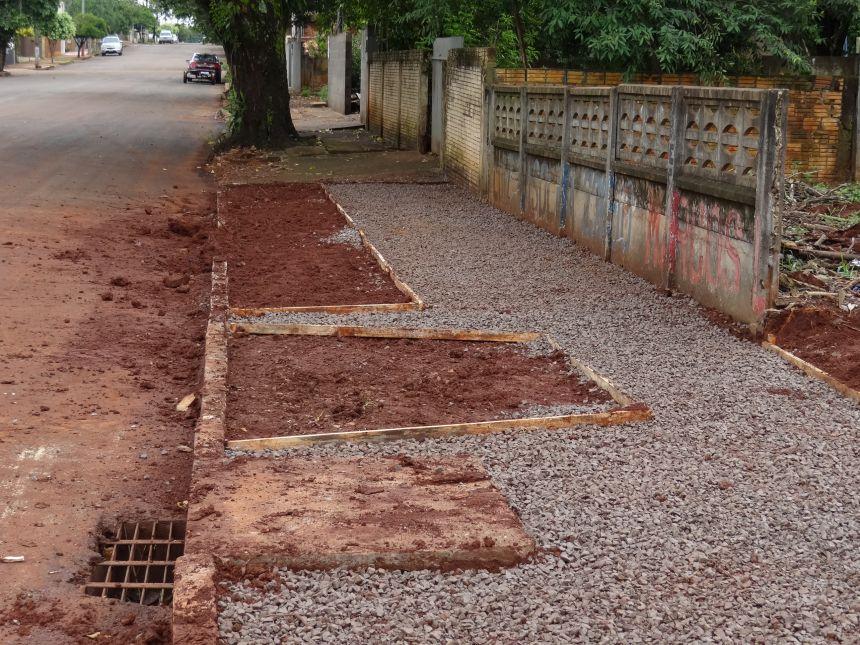 Obras de acessibilidade são iniciadas no perímetro urbano de Peabiru