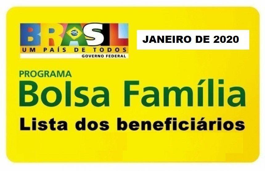 LISTA DE BENEFICIÁRIOS DO PROGRAMA BOLSA FAMÍLIA