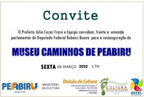 MUSEU CAMINHOS DE PEABIRU REINAUGURA NESSA SEXTA FEIRA