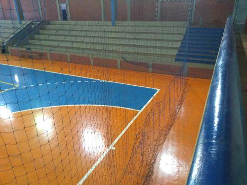 Inicia hoje a troca da rede de proteção no Ginásio de Esportes