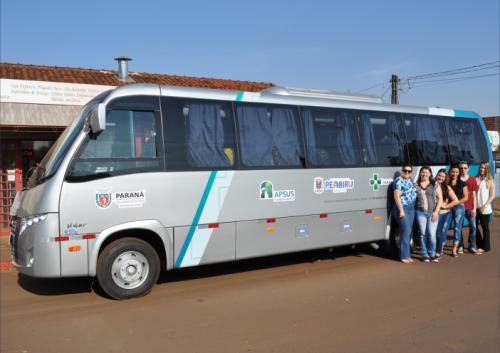 Novo ônibus da Sec. de saúde realiza sua primeira viagem