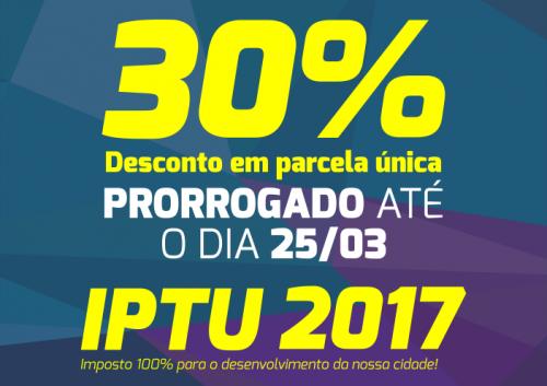 População tem maior prazo para pagar IPTU com 30% de desconto