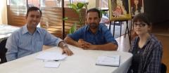 Reunião que definiu o Regimento Interno do Museu, presentes: Jair Elias; da divisão de Cultura; historiador Arléto Rocha e Mayara Simonelli, do Museu.
