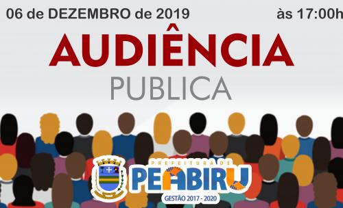 CONVITE PARA AUDIÊNCIA PÚBLICA 06/12/2019