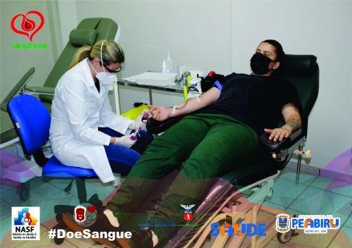 DOADORES DE PEABIRU VÃO AO HEMONÚCLEO DE CAMPO MOURÃO DOAR SANGUE