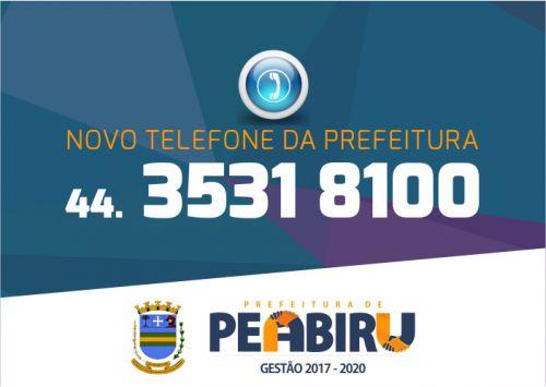 Novo número de telefone da Prefeitura
