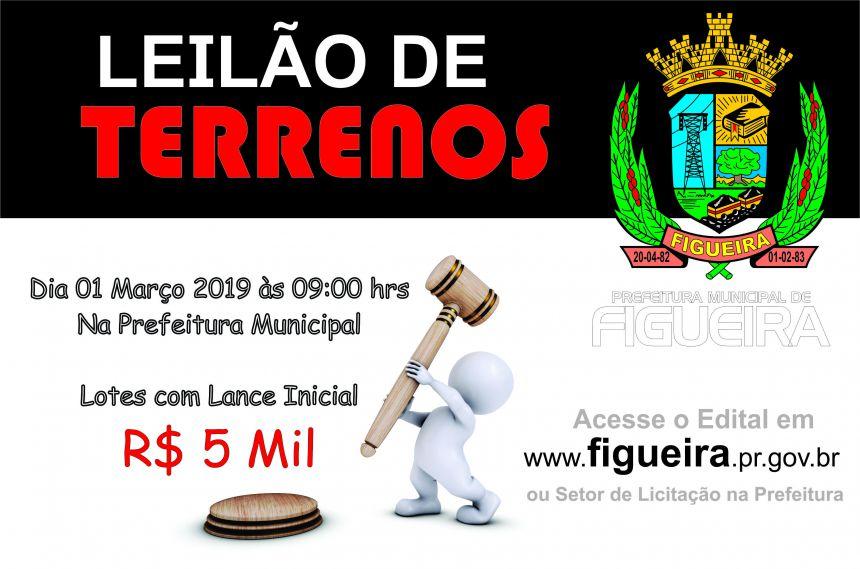 LEILÃO DE TERRENOS