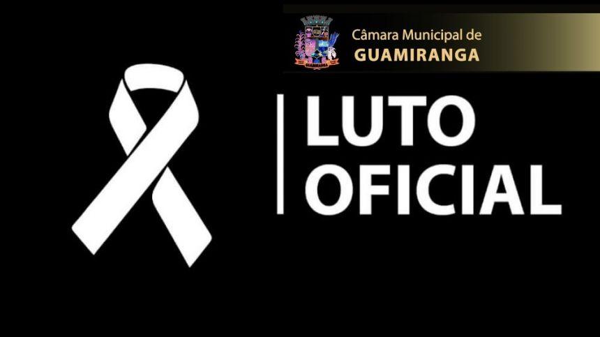 DECLARA LUTO OFICIAL pelo falecimento do Prefeito Municipal Sr. Marcos Henrique Chiaradia