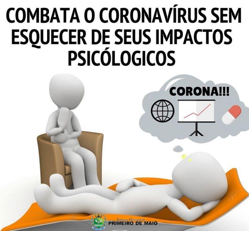 CORONAVÍRUS E OS CUIDADOS PSICOLÓGICOS.