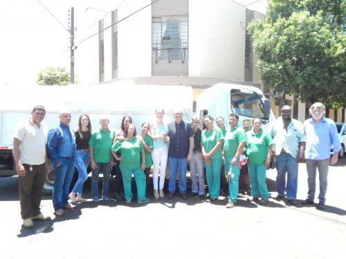 ARECAF PARTICIPA DE ENTREGA SIMBÓLICA DE CAMINHÃO DE COLETA DE RECICLÁVEIS