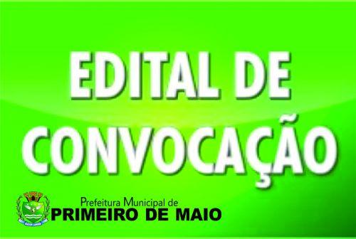 CONVOCAÇÃO DE CANDIDATOS APROVADOS EM CONCURSO PÚBLICO
