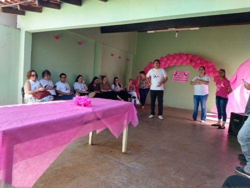 OUTUBRO ROSA - MÊS DE CONSCIENTIZAÇÃO DA PREVENÇÃO DO CÂNCER DE MAMA.