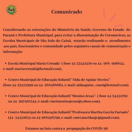Comunicado COVID -19