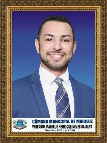 1º Secretário - Matheus Henrique Neves da Silva