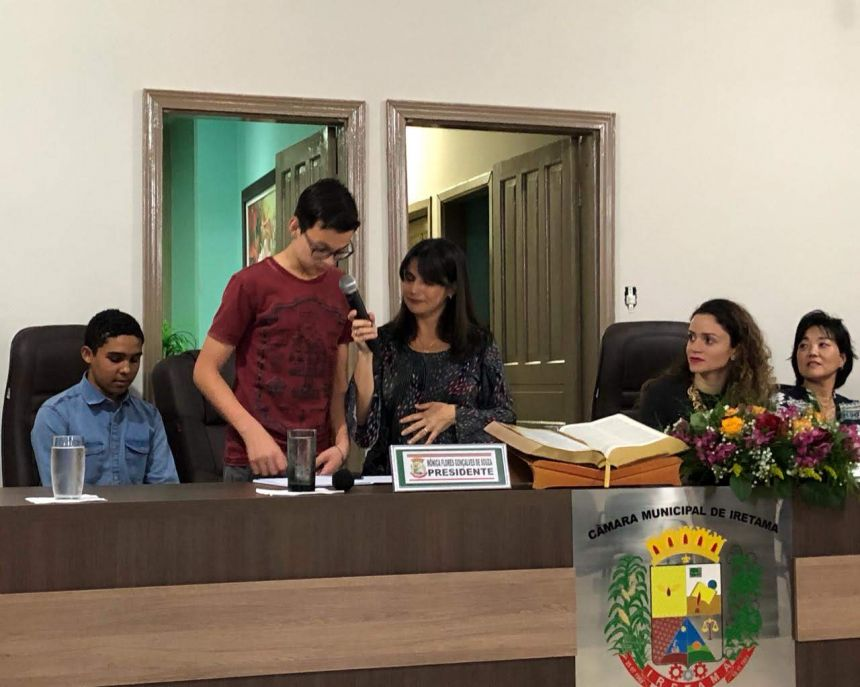 1ª Legislatura dos Vereadores Mirins eleitos pelo Projeto Parlamento Jovem.