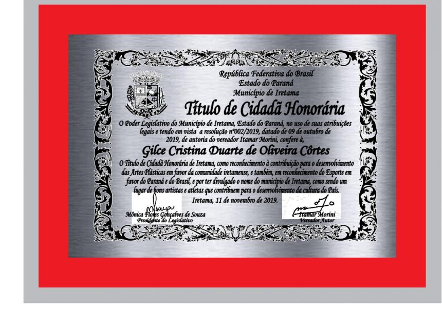 ENTREGA DO TÍTULO DE CIDADÃO HONORÁRIO