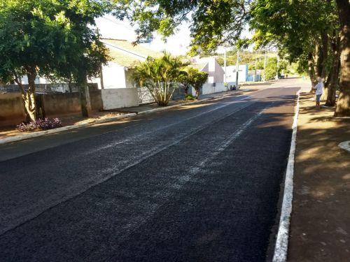 Prefeitura de Porto Rico inicia o recape asfáltico em ruas e avenidas