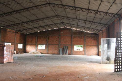 Início da reforma do barracão da Cooperativa Cocavi, onde em breve será sede da Mini processadora de Legumes, Frutas, Hortaliças e Temperos.