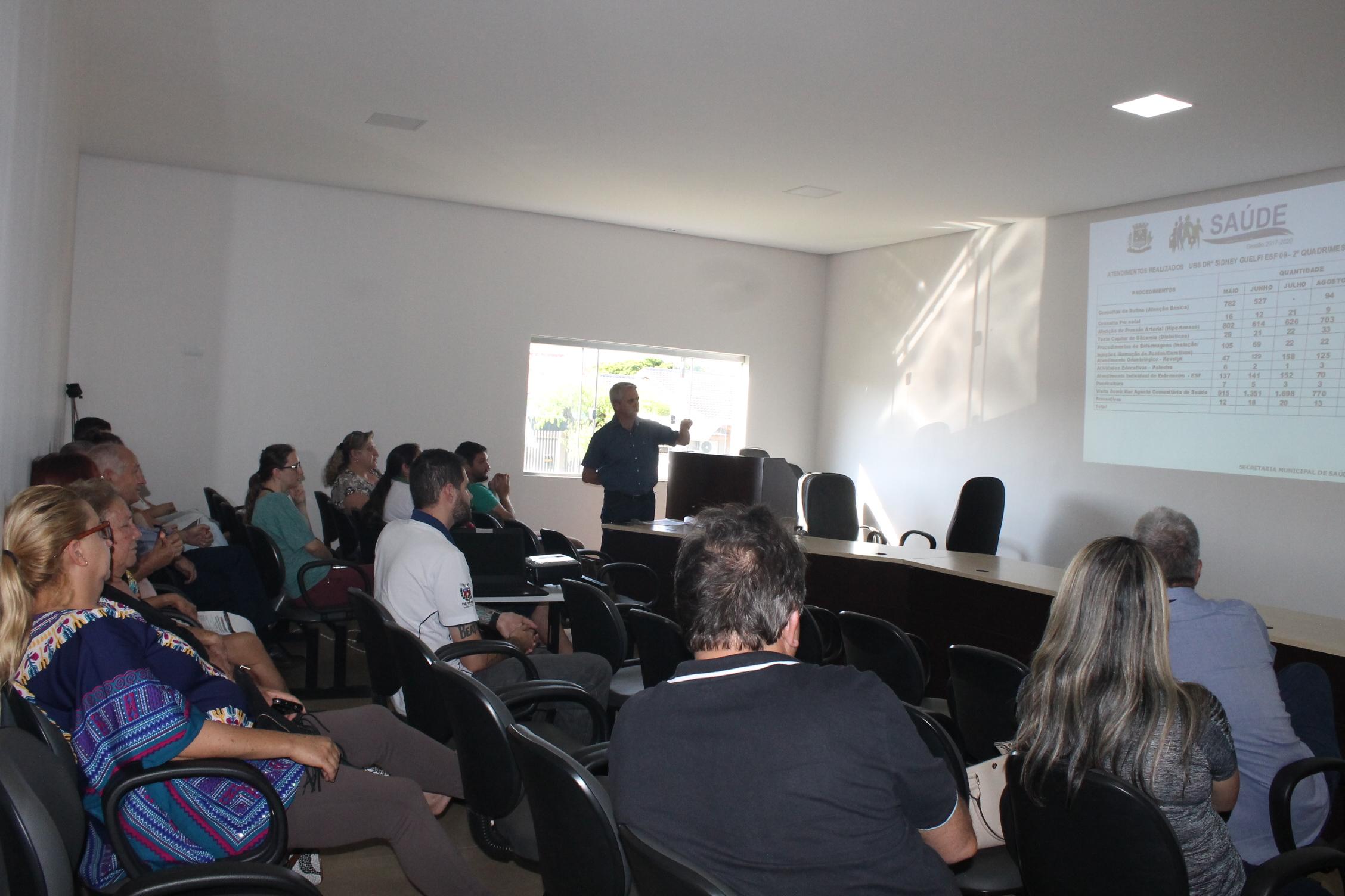 Secretaria Municipal de Saúde realiza Audiência Pública para Prestação de Contas do 2° Quadrimestre de 2019
