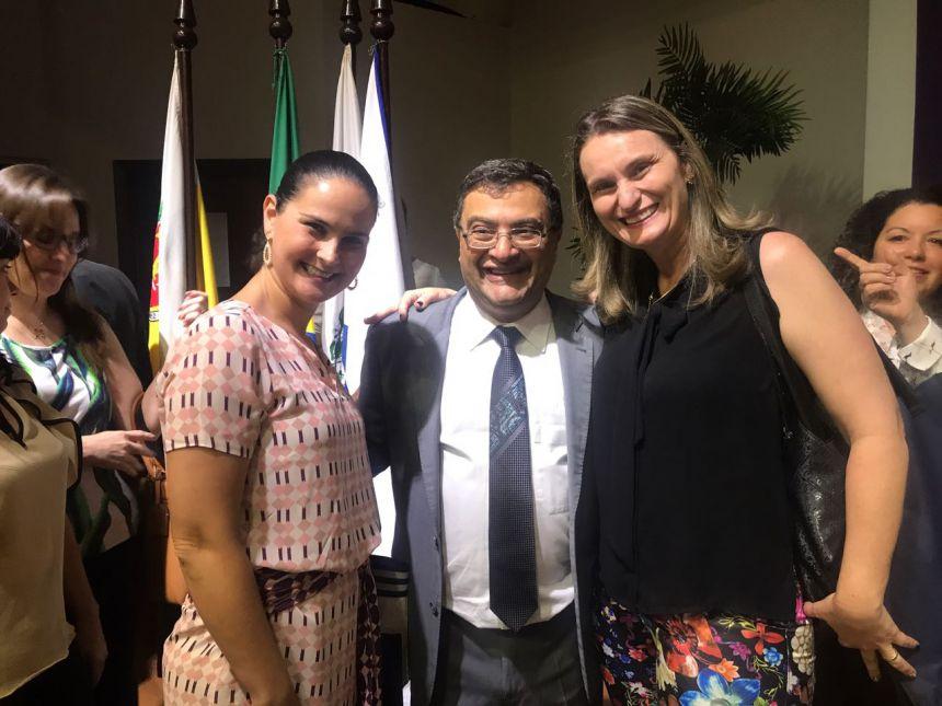 Prefeita e presidente da Câmara participam do lançamento da Rede de Atenção Integral a Saúde do Idoso
